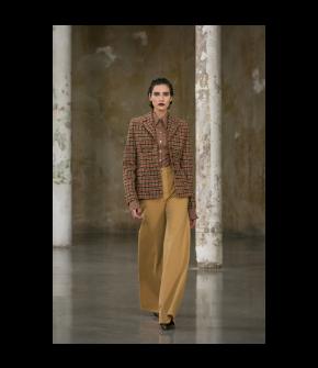 Boogie Jeans in beige by Lena Hoschek - AW21/22 autumn/winter collection - Biedermeier