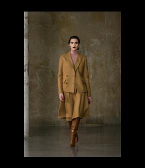 Philander Skirt toffee by Lena Hoschek - AW21/22 autumn/winter collection - Biedermeier