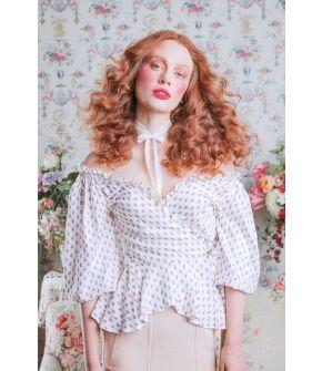 White Chanteuse Blouse by Lena Hoschek - SS21 summer collection - Antoinette's Garden