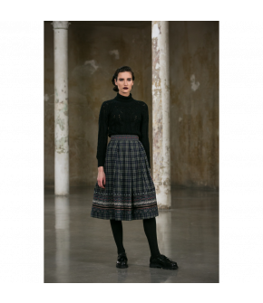 Irmi Skirt Wintertraum in blue and green by Lena Hoschek Tradition - AW21/22 autumn/winter collection