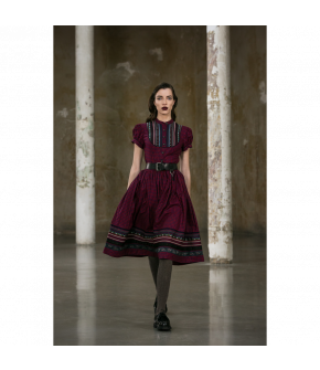 Gretl Dress Hüttengaudi in red plaid by Lena Hoschek Tradition - AW21/22 autumn/winter collection