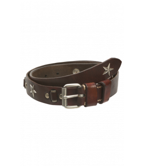 "Leather Hip Belt ""Texas Star"" by DUKES"