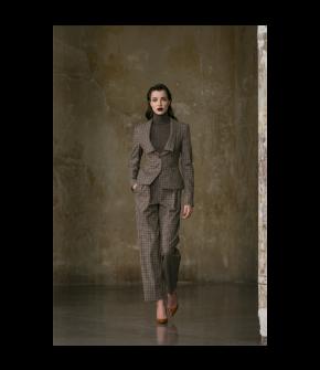 Correspondence Pants in plaid by Lena Hoschek - AW21/22 autumn/winter collection - Biedermeier