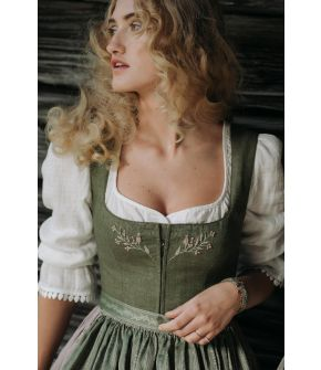 White dirndl blouse