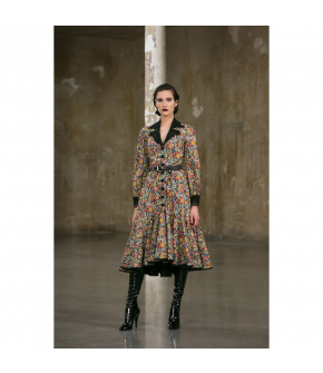 Freedom of Thought Dress with flowers by Lena Hoschek - AW21/22 autumn/winter collection - Biedermeier