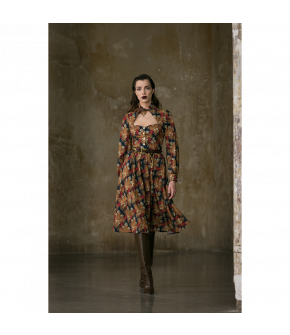 Drawing Room Dress in floral print by Lena Hoschek - AW21/22 autumn/winter collection - Biedermeier