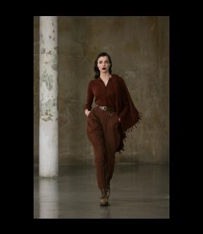 Wally Scarf Rehbraun in auburn by Lena Hoschek Tradition - AW21/22 autumn/winter collection
