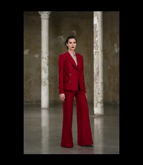Philander Jacket cherry in red by Lena Hoschek - AW21/22 autumn/winter collection - Biedermeier