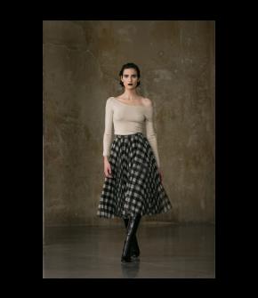 Liberty Skirt black check by Lena Hoschek - AW21/22 autumn/winter collection - Biedermeier