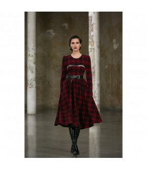 Private Lessons Dress in red and black by Lena Hoschek - AW21/22 autumn/winter collection - Biedermeier