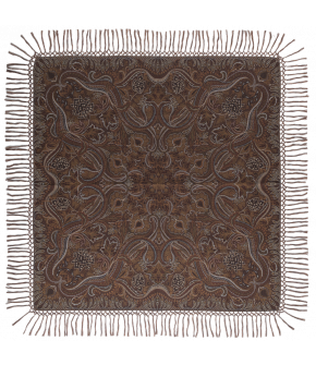 "Wool and silk blend scarf ""Hawelka"" from Lena Hoschek with paisley design - Artisan Partisan - Autumn/winter collection AW20/21"