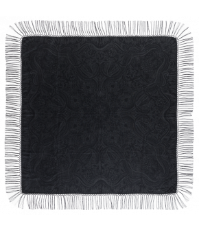 "Silk scarf ""Hawelka"" in black from Lena Hoschek - Artisan Partisan - Autumn/winter collection AW20/21"