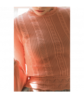 Affaire Knitted Top apricot by Lena Hoschek - SS21 summer collection - Antoinette's Garden