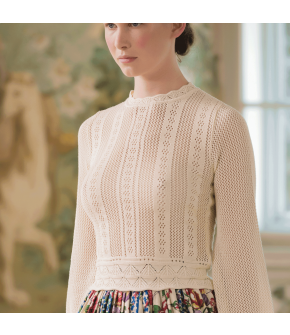 Affaire Knitted Top crème by Lena Hoschek - SS21 summer collection - Antoinette's Garden