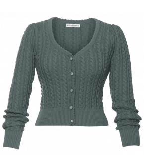 Alma Cardigan in grey-green by Lena Hoschek Tradition for the spring/summer 2021 collection
