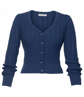 Alma Cardigan in dark-blue by Lena Hoschek Tradition for the spring/summer 2021 collection