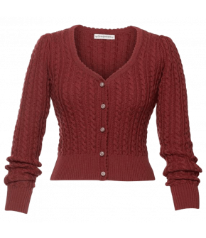 Alma Cardigan in cranberry by Lena Hoschek Tradition for the spring/summer 2021 collection