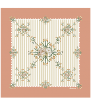 Antoinette Foulard tangerine by Lena Hoschek for the summer collection 2021 - Antoinette's Garden.