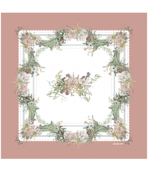 Antoinette Foulard 90x90 vieux rose by Lena Hoschek - SS21 summer collection - Antoinette's Garden