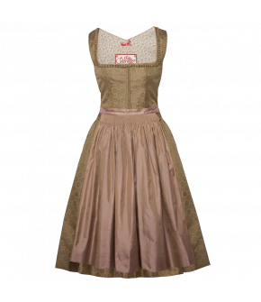 Lena Hoschek Tradition silk Dirndl with matching silk apron.