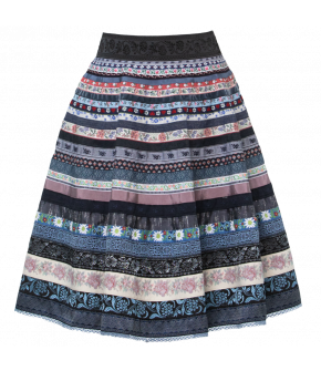 "Lena Hoschek Ribbon Skirt ""Heidelbeere"" by Lena Hoschek Tradition - Spring / Summer 2019"