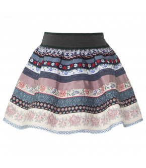 "Kids' ribbon skirt by Lena Hoschek Tradition in the colour ""Blueberry"""