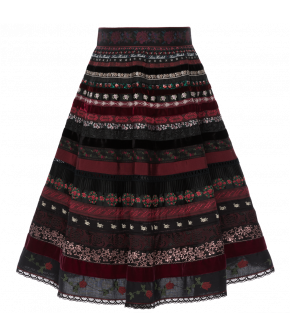 "Black and red ribbon skirt by Lena Hoschek in the colour ""Bloody Roses"""