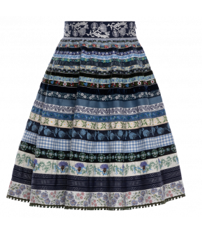 "Ribbon skirt ""Kornblume"" by Lena Hoschek Tradition - SS20 summer collection"