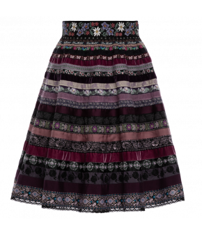 "Ribbon skirt ""Veilchen"" by Lena Hoschek Tradition - SS20 summer collection"