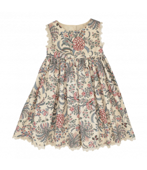 Belle Mini Me Dress palmier with flowers by Lena Hoschek - SS21 summer collection - Antoinette's Garden