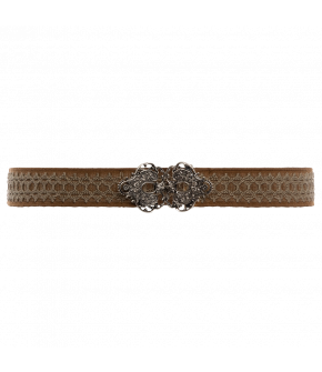 "Waist belt with fancy metal clasp by Lena Hoschek ""Tradition Belt heather"""
