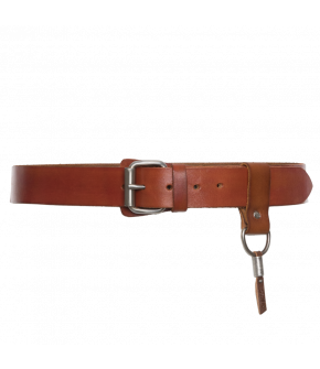 "Leather belt by Dukes for Lena Hoschek in ""burnt"""