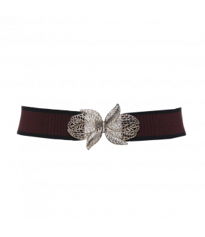 "Lena Hoschek Belt ""Lotus"" in bordeaux / Lena Hoschek Gürtel ""Lotus"" in bordeuax / Autumn/Winter 2018/19 / Wintergarden"