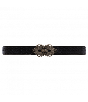 "Black belt ""Morgentau"" with metal buckle from Lena Hoschek Tradition"