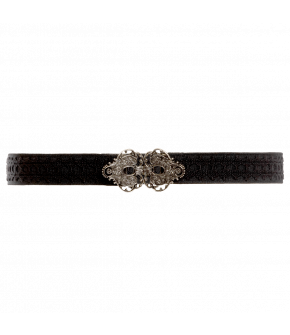 "Waist belt with fancy metal clasp by Lena Hoschek ""Tradition Belt"" in black"