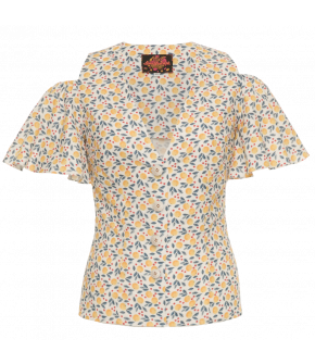 Aruba Blouse orange lemonade - Lena Hoschek Tutti Frutti Spring Summer 19