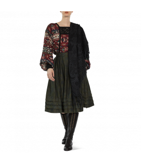 "Austrian silk and woolen shawl ""Hawelka"" from Lena Hoschek - Artisan Partisan - Autumn/winter collection AW20/21"