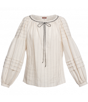 """Banu"" blouse in white by Lena Hoschek - Artisan Partisan - Autumn/winter collection AW20/21"