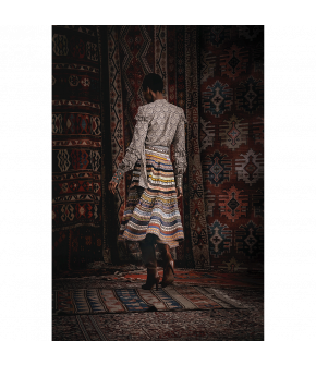 """Opulence ikat"" ribbon skirt by Lena Hoschek - Artisan Partisan - Autumn/winter collection AW20/21"