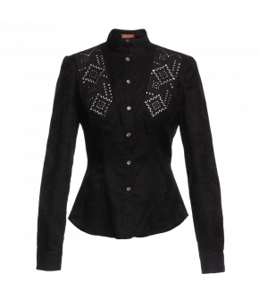 "Lena Hoschek Blouse ""Olga""  in Black - Artisan Partisan - Autumn/winter collection AW20/21"