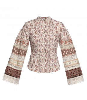"""Russian"" blouse by Lena Hoschek - Artisan Partisan - Autumn/winter collection AW20/21"