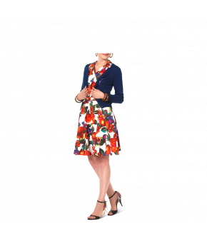Cardigan Tropical in navy blue by Lena Hoschek - Tutti Frutti Spring / Summer 2019