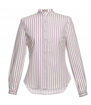 Lena Hoschek Work Blouse with red stripes - Men At Work 19/20 - Autumn/Winter 2019