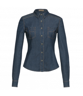 "Fitted Western-style denim shirt by Lena Hoschek ""Austin Blouse"""