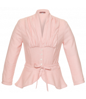 "Lena Hoschek Blouse ""Bonnie"" in baby pink - Dollhouse - Autumn / Winter 2017/18"