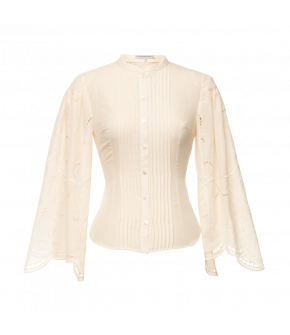 Heidelinde Blouse in cream by Lena Hoschek Tradition - AW21/22 autumn/winter collection