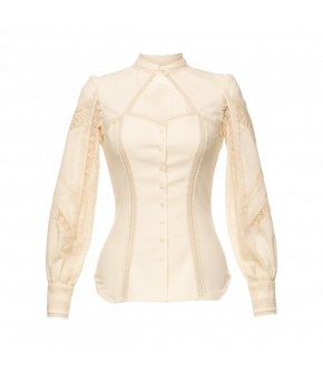 Konstanze Blouse in cream by Lena Hoschek Tradition - AW21/22 autumn/winter collection