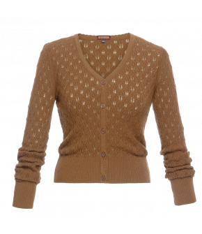 """Bohème"" cardigan in gold by Lena Hoschek - Artisan Partisan - Autumn/winter collection AW20/21"