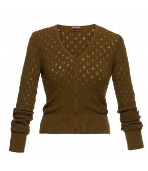 """Bohème cardigan moss"" by Lena Hoschek - Artisan Partisan - Autumn/winter collection AW20/21"