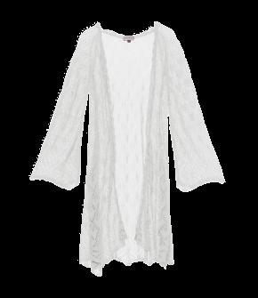"Extra-long, ajour-knitted cardigan by Lena Hoschek ""Bohemia"" in the colour creme - Lena Hoschek Summer 2018 - Kiss Me Piroschka"